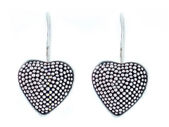 Suarti Jawan Heart Silver Wire Earrings