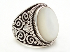 Mother of Pearl Filigree Ring