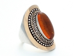 Elliptical Amber Ring