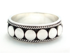Nailhead Silver Ring